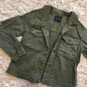 Sanctuary Olive Green Button-Up Cargo Jacket